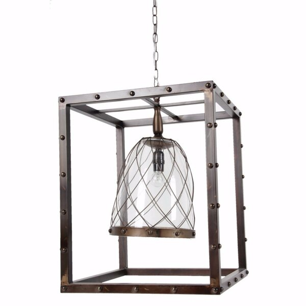 Freman 1 - Light Lantern Rectangle Chandelier by 17 Stories 17 Stories