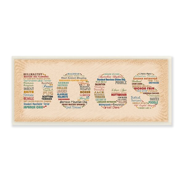 Dog Breeds Typography Wall Plaque by Stupell Industries
