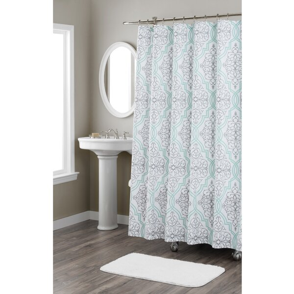 Laurel Cotton Shower Curtain by Nicole Miller