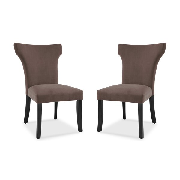 Farr Wing Back Upholstered Dining Chair (Set of 2) by Ebern Designs