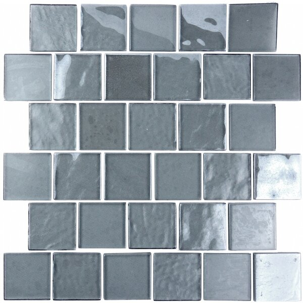 Landscape 2 x 2 Glass Mosaic Tile in Blue Gray by Abolos