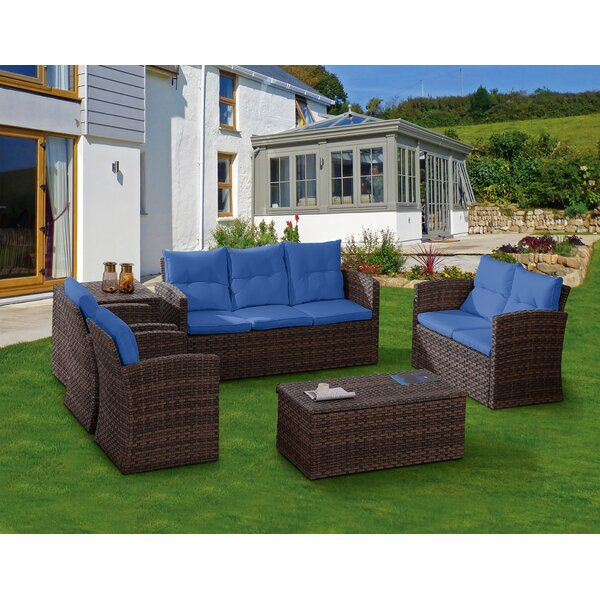 Fordville Rattan Sofa Seating Group With Cushions By Latitude Run