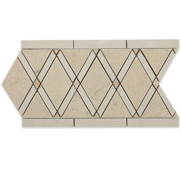 Grand 6 x 12  Marble Border Tile in Lagos Gray by Splashback Tile