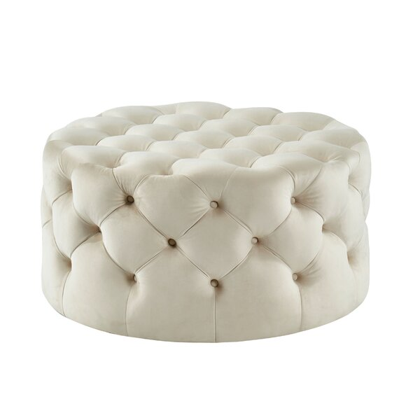 Brentley Tufted Ottoman by House of Hampton