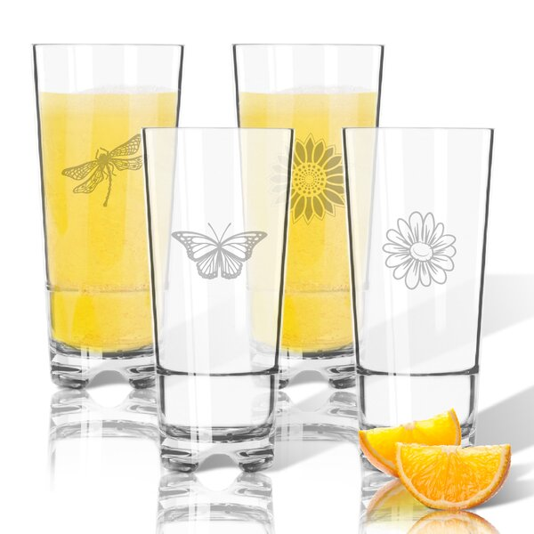 Garden Tritan 16 oz. 4 Piece High Ball Glass by Carved Solutions