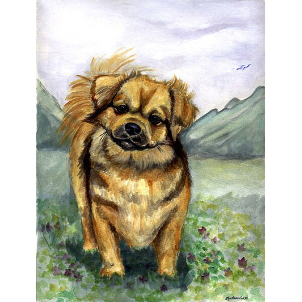 Tibetan Spaniel House Vertical Flag by Caroline's Treasures