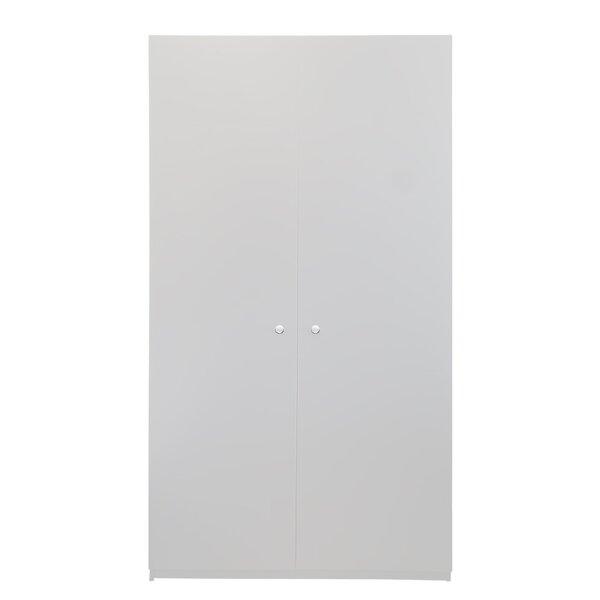 Discountworld 2 Door Wardrobe, White by Latitude Run Latitude Run