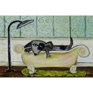 'Dog Bath' by Tori Campisi Painting Print on Wrapped Canvas by Marmont Hill