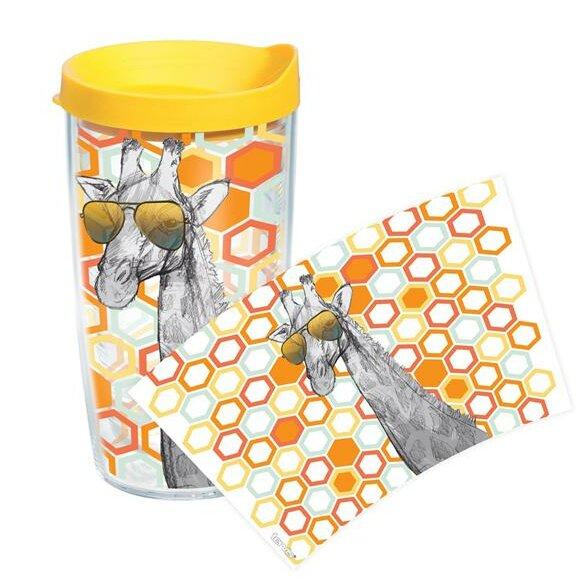 On Trend Giraffe Plastic Travel Tumbler by Tervis Tumbler