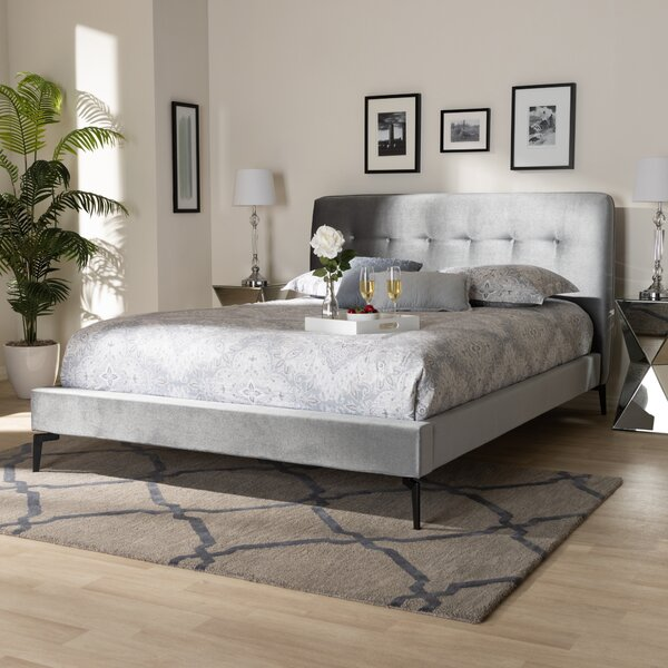 Vessels Glam and Luxe Upholstered Platform Bed by Mercer41