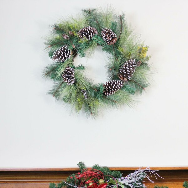 28 Mixed Long Needle Pine and Pine Cone Artificial Wreath by Loon Peak