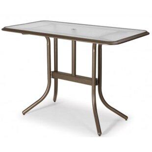 Genial Glass Top Rectangular Bar Table