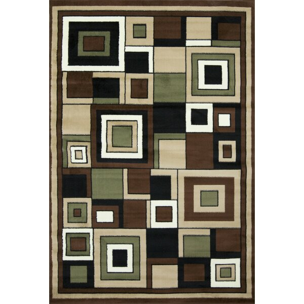 Karyn Geometric Brown/Beige Area Rug by Winston Porter