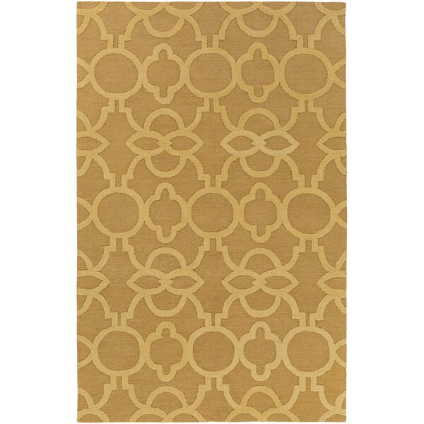 Sandi Hand-Crafted Gold Area Rug by Mercer41