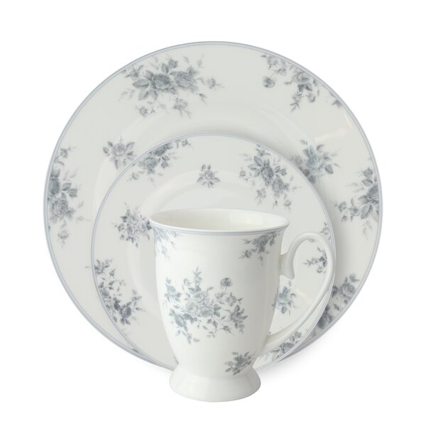 Stockwell Bone China Rose 12 Piece Dinnerware Set, Service for 4 by August Grove