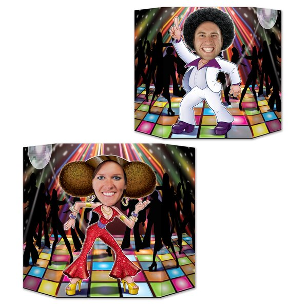 Disco Couple Photo Stand-up by The Beistle Company