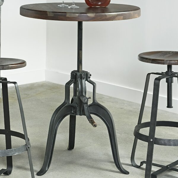 Evergreen Adjustable Pub Table by 17 Stories