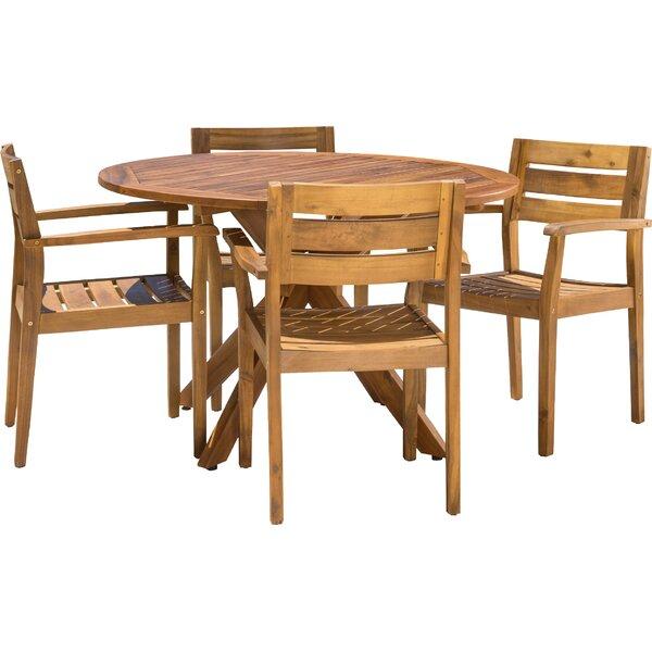 Kaylie Wood 5 Piece Dining Set by Mistana