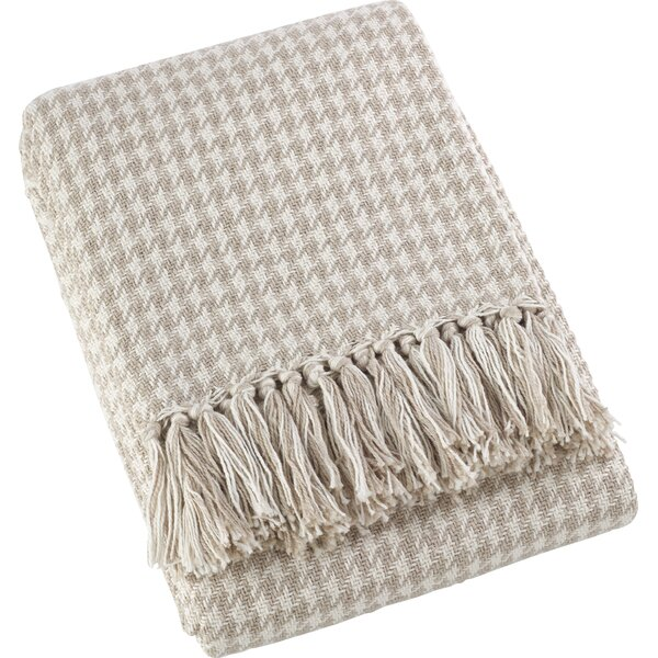 Mantua Houndstooth Soft Cotton Throw by Gracie Oaks