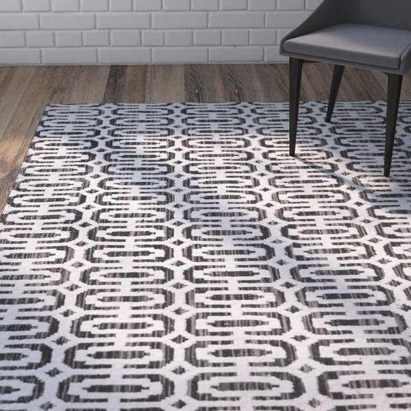 Agee Mirage Hand Woven Charcoal Area Rug by Brayden Studio