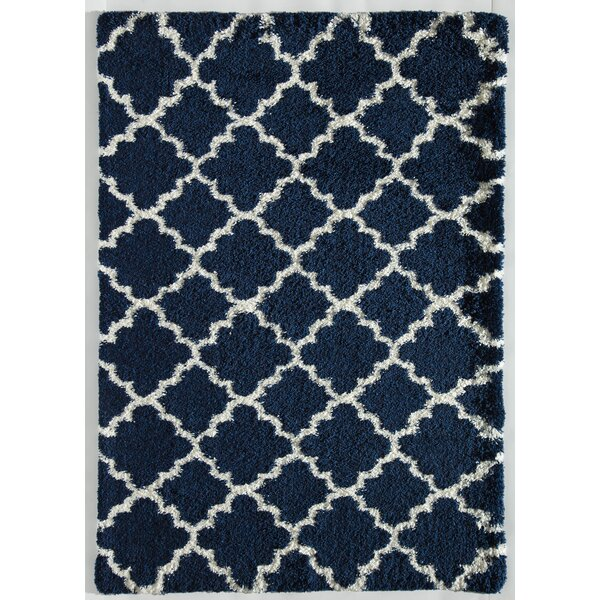 Orbit Quatrefoil Navy/Ivory Area Rug by Rugs America