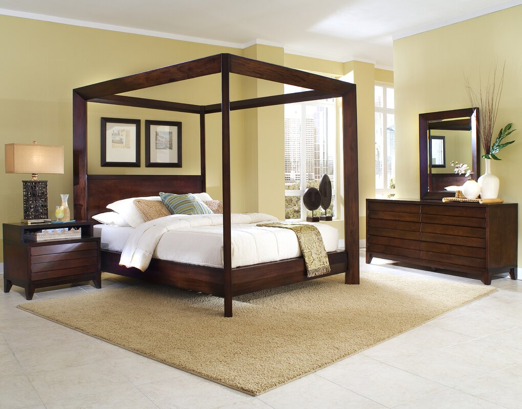 Home Image Island Canopy Configurable Bedroom Set & Reviews | Wayfair