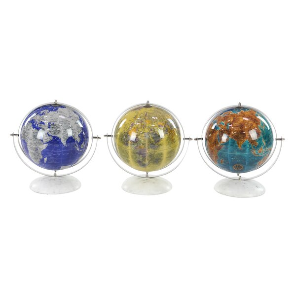 Modern and Marble Pop Art Globe (Set of 3) by Latitude Run