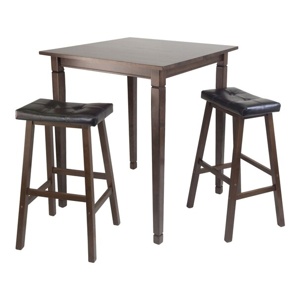 #2 Hemphill 3 Piece Counter Height Pub Table Set By Red Barrel Studio 2019 Online