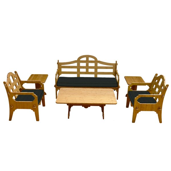 Burliegh 6 Piece Sofa Set with Cushions by Loon Peak