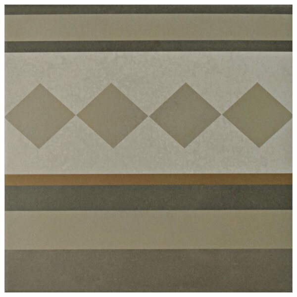 Grotta 7.88 x 7.88 Porcelain Field Tile in Gray/Yellow by EliteTile