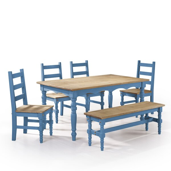 Pinard 6 Piece Solid Wood  Dining Set by Gracie Oaks