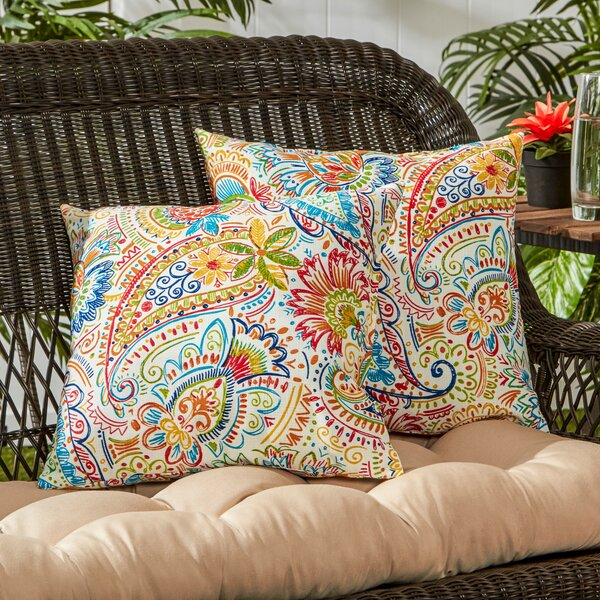 Ellerby Outdoor Throw Pillow (Set of 2) by World Menagerie