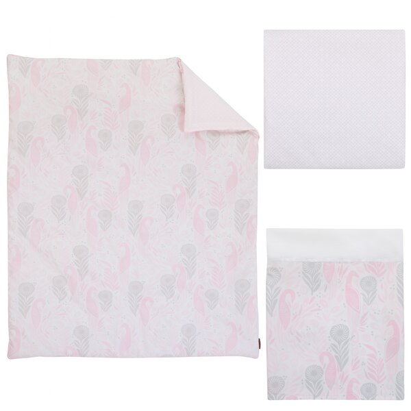 DwellStudio Beautiful Boheme Peacock/Feathers 3 Piece Nursery Crib Bedding Set by DwellStudio