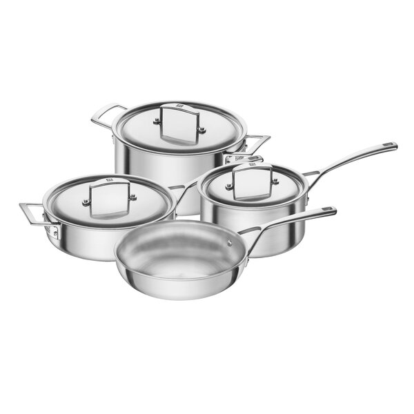 Aurora 7-Piece Stainless Steel Cookware Set by Zwilling JA Henckels