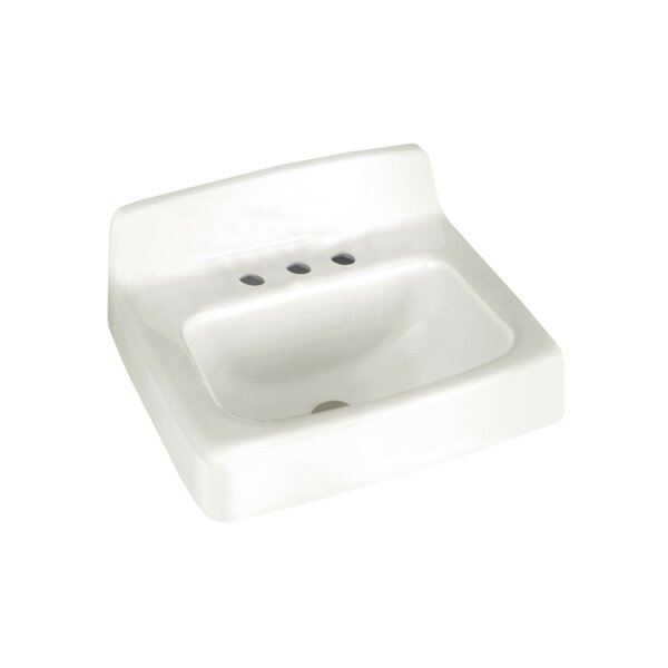 Regalyn Ceramic 19 Wall Mount Bathroom Sink with Overflow by American Standard