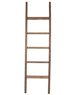 Teak Straight 6 ft Decorative Ladder by Ibolili
