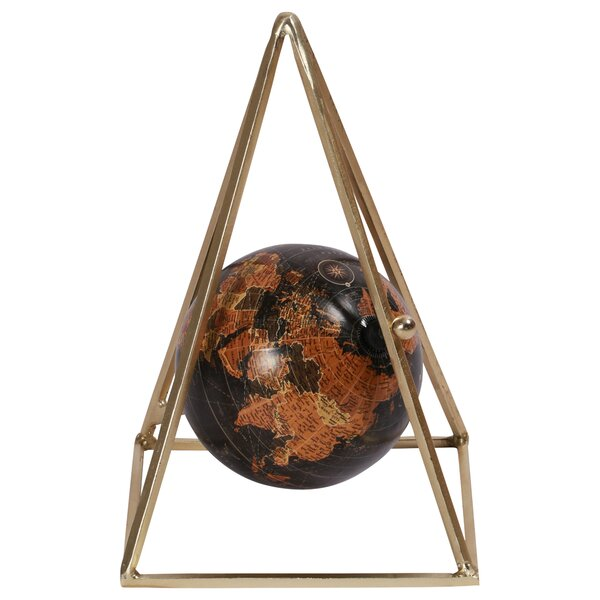 Brass Plated Statue Globe by Darby Home Co