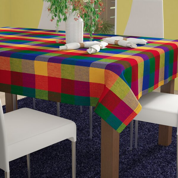 Shari Indian Summer Checkered Tablecloth by Zipcode Design