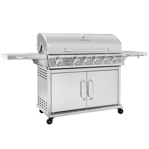 Pre-Assembled 6-Burner Propane Gas Grill with infr
