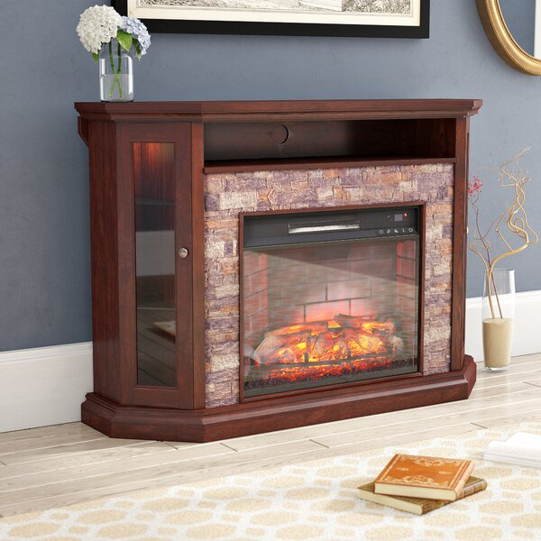 Montpelier Corner Convertible 50 TV Stand with Fireplace by Alcott Hill
