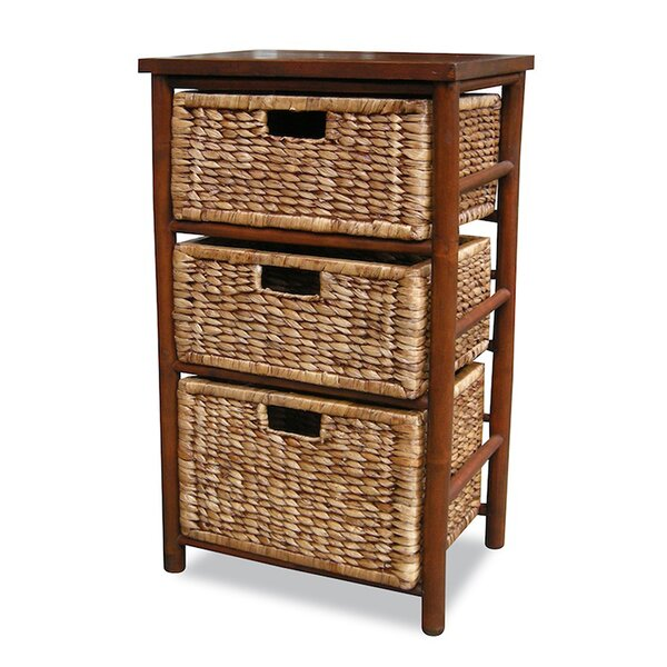 Elim 3 Drawer Bamboo Accent Chest by Bay Isle Home