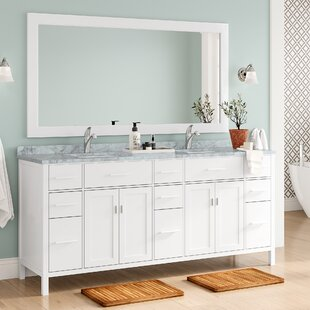 Middletown 78 Double Bathroom Vanity Set with Mirror by Andover Mills