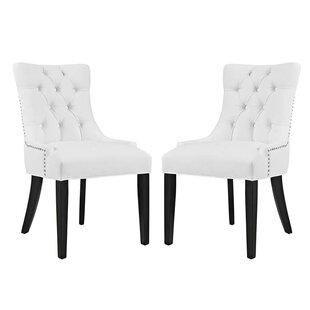 Burnett Vinyl Dining Side Chair (Set of 2)  sc 1 st  Wayfair & Vinyl Dining Chairs | Wayfair