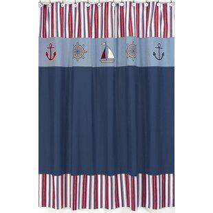 Nautical Nights Shower Curtain BySweet Jojo Designs