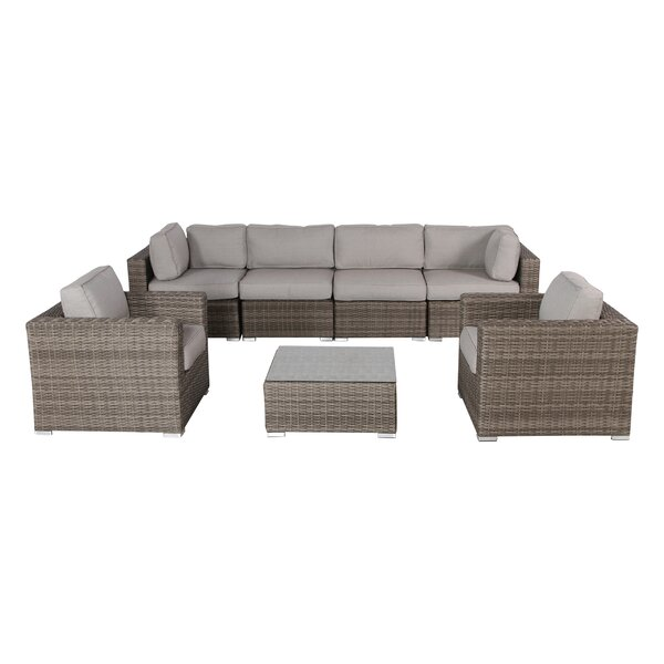 Deandra 7 Piece Sectional Seating Group with Cushions by Sol 72 Outdoor Sol 72 Outdoor
