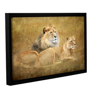 Lions by Antonio Raggio Framed Graphic Art on Wrapped Canvas by ArtWall