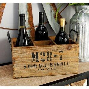 Wood 6 Bottle Tabletop Wine Bottle Rack by Cole & Grey