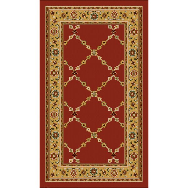 Premier Red Brick Area Rug by Brumlow Mills