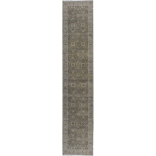 Runner Oriental Hand-Knotted Wool Camel/Beige Area Rug