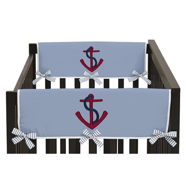 Come Sail Away Side Crib Rail Guard Cover (Set of 2) by Sweet Jojo Designs